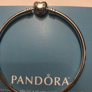Authentic Pandora Sterling Silver Bangle Bracelet